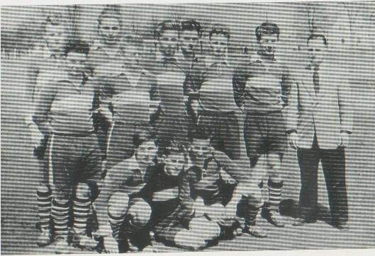 Die B-Jugend als Kreis- und Pokalmeister 1956