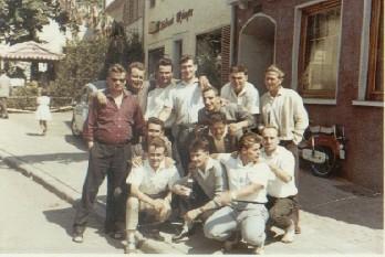 1.Mannschaft beim Frühschoppen Kerwe Montag 1961