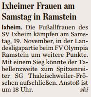 Damen am Samstag in Ramstein