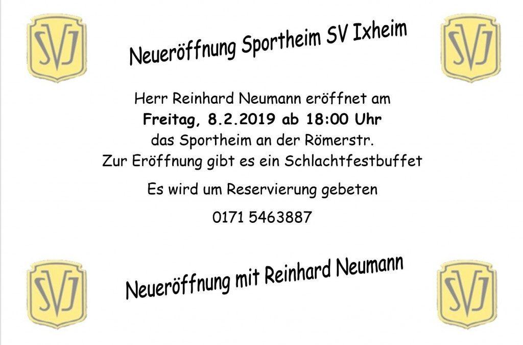 Sportheim-Neueröffnung