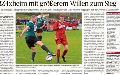Zeitungsberichte zum Derby